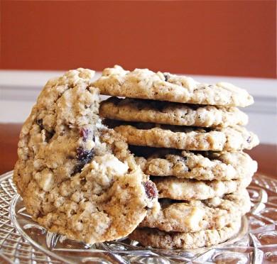 Рецепт Овсяное печенье с клюквой и шоколадом