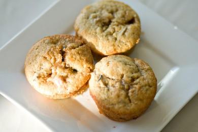 Рецепт Персиковые кексы с ревенем