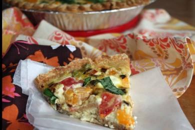 Рецепт Киш с козьим сыром и помидорами