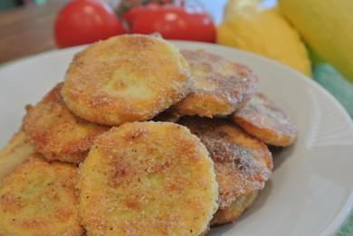 Рецепт Печеные кабачки в кукурузной панировке