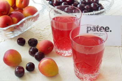 Рецепт Компот из вишен и абрикосов
