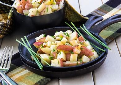 Рецепт Жареный картофель с зеленым луком