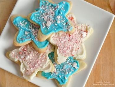Рецепт Мятное печенье со сливочно-шоколадной глазурью