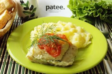 Рецепт Филе хека, запеченное с овощами в фольге