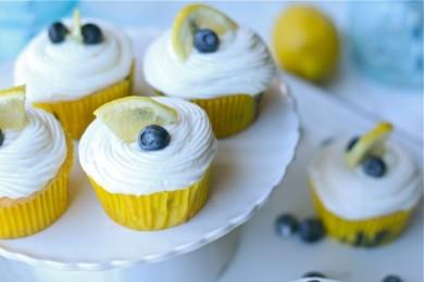 Рецепт Лимонные кексы с черникой