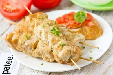 Рецепт Шашлычки из куриного филе по-гречески