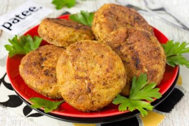Рецепт Рыбные котлеты из скумбрии с рисом