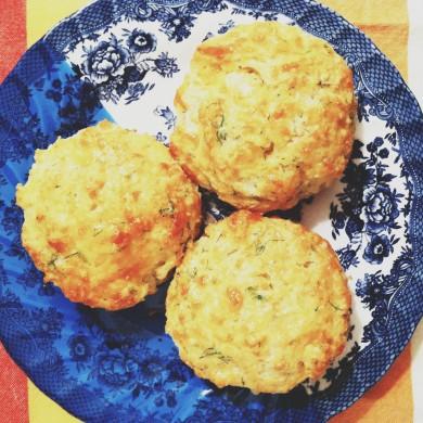 Рецепт Сырное печенье с укропом