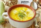 Сырный суп с кабачками