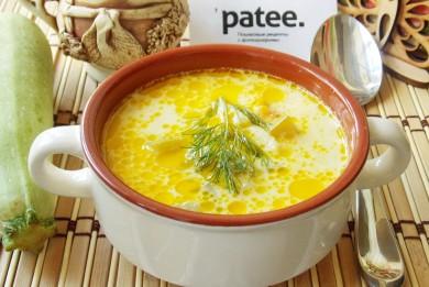 Рецепт Сырный суп с кабачками