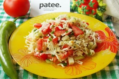 Рецепт Салат с адыгейским сыром и овощами