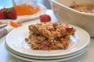Рецепт Клубнично-абрикосовый пирог
