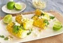 Жареная кукуруза с сыром и зеленью