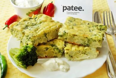 Рецепт Запеканка с брокколи, цветной капустой и шпинатом