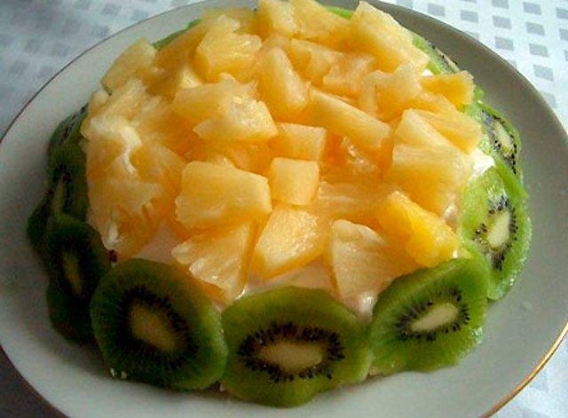 Рецепты салатов на новый год из ананаса