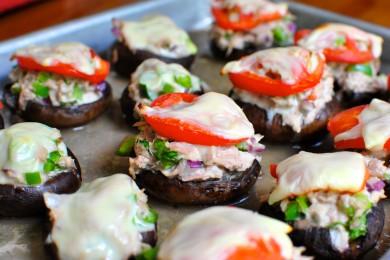 Рецепт Грибы портобелло с тунцом