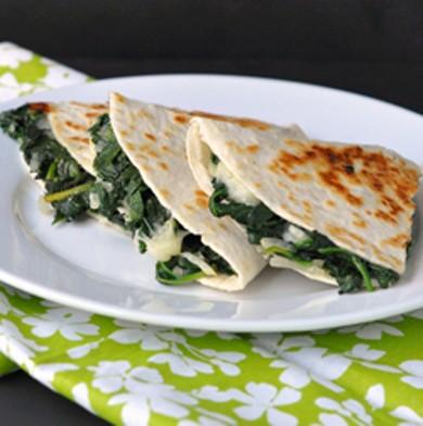 Рецепт Кесадилья со шпинатом