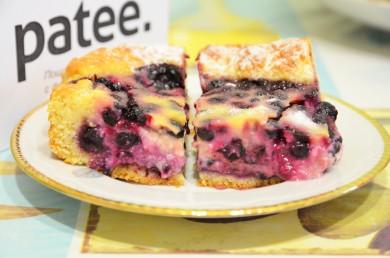 Рецепт Черничный пирог со сметанной заливкой