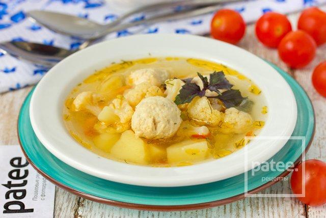 Рецепт супа с цветной капустой и горошком