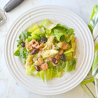 Рецепт Горячий салат из морепродуктов с заправкой
