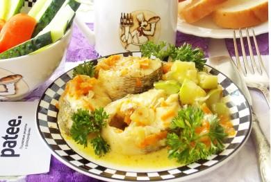 Рецепт Нототения с овощами в сметане