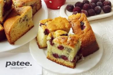 Рецепт Лигурийский лимонный  пирог с вишней