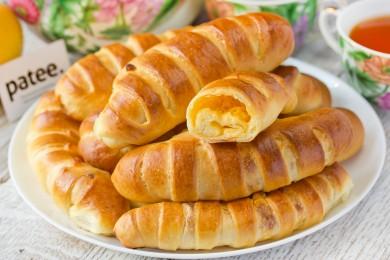 Рецепт Полосатые булочки с плавленым сыром