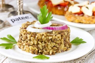 Рецепт Маджадра (чечевица с булгуром)