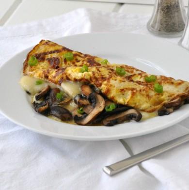 Рецепт Омлет с грибами и сыром хаварти