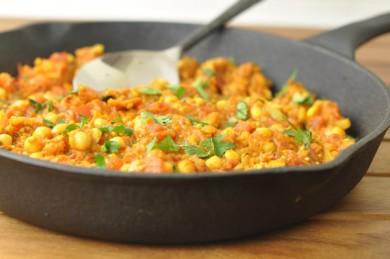 Рецепт Нут со сладким картофелем и карри