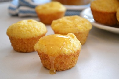 Рецепт Мини-кексы с апельсином и кукурузой