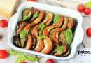 Баклажаны, запечённые с помидорами и моцареллой
