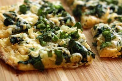 Рецепт Пицца со шпинатом