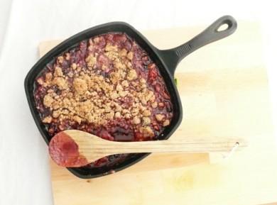 Рецепт Ягодно-ореховый крамбл