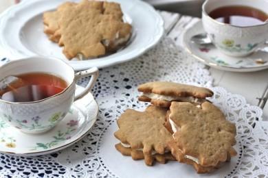 Рецепт Кленовое печенье-сэндвичи с орехами
