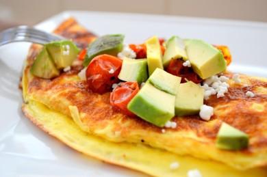 Рецепт Омлет с печеными помидорами и сыром