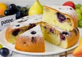 Пирог с виноградом на оливковом масле в мультиварке
