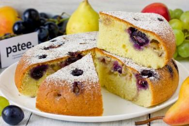 Рецепт Пирог с виноградом на оливковом масле в мультиварке — рецепт для мультиварки