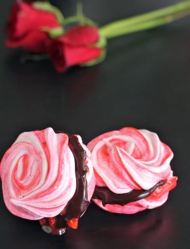 Рецепт Безе с шоколадной начинкой