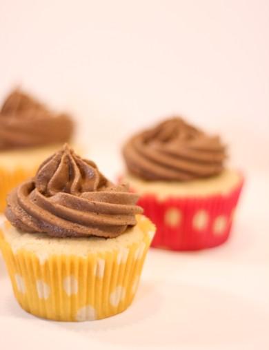 Рецепт Ванильные кексы с шоколадным кремом