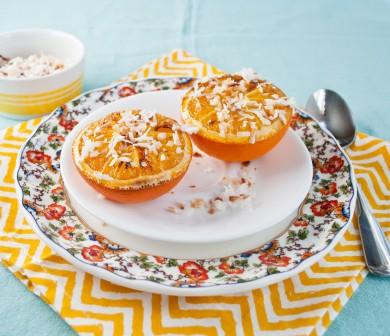 Рецепт Жареный апельсин с кокосовой стружкой