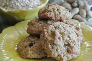 Рецепт Овсяное печенье с изюмом