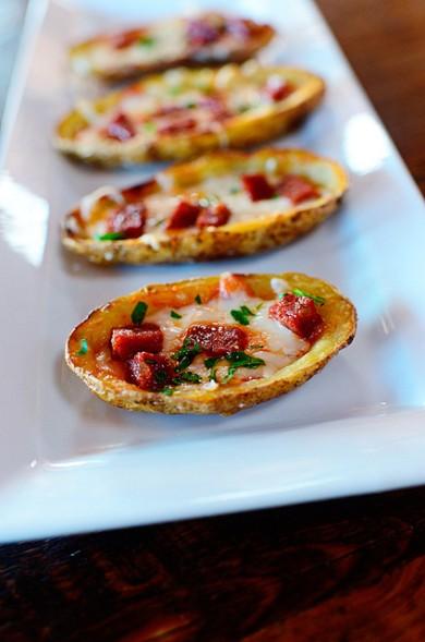 Рецепт Пицца в картофельных лодочках
