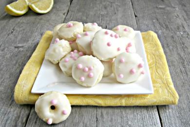 Рецепт Лимонные пончики с глазурью