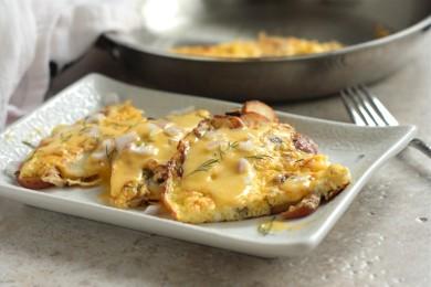 Рецепт Картофельная фриттата с голландским сырным соусом