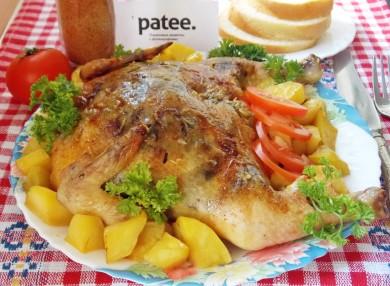 Рецепт Курица, фаршированная грибами и сыром