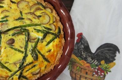 Рецепт Киш с картофелем и спаржей