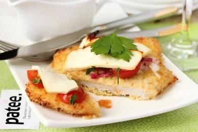Рецепт Свиные отбивные с помидорами и брынзой
