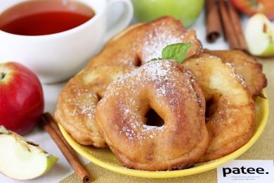 Рецепт Яблочные кольца в пивном кляре