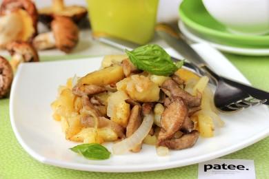 Рецепт Маслята, жаренные с картофелем